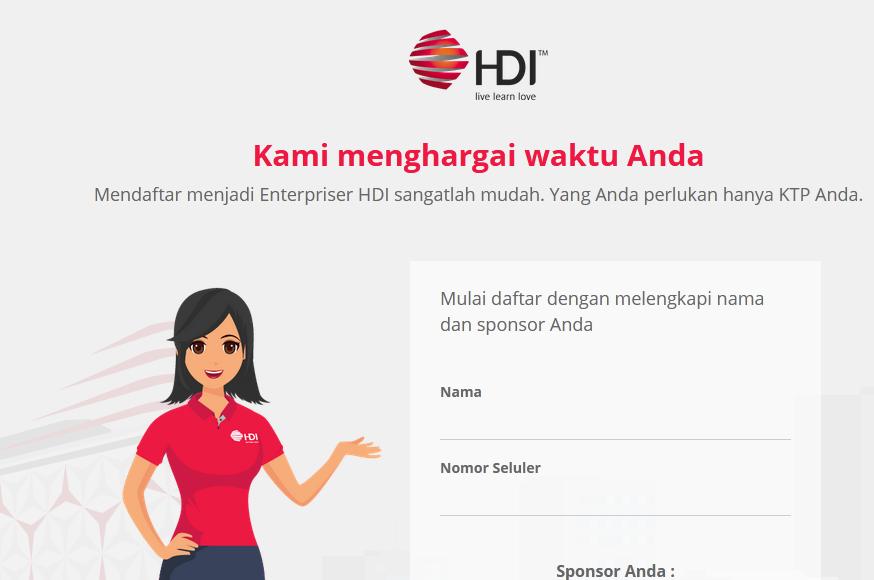 Registrasi Online Member HDI